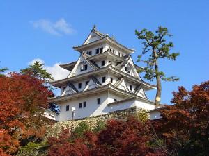 Gujo_hachiman_castle_in_autumn