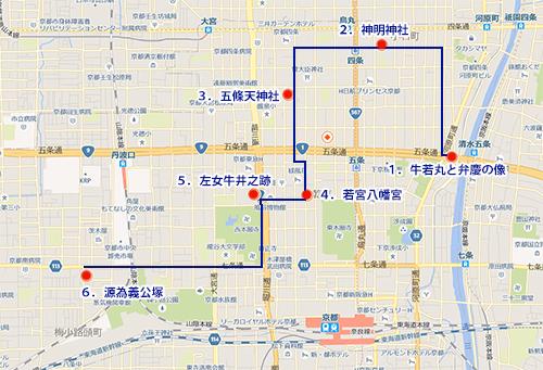 源氏のゆかりの地MAP