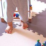 ジョイントマットは子供の成長に合わせてスペースも道具もフレキブルに対応できます。